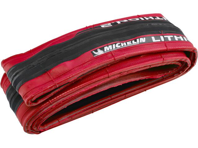 """Michelin Lithion 2 Sykkeldekk 28"""" rød"""